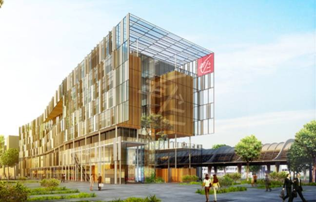 Image de synthèse du futur siège de la Caisse d'Epargne à Bordeaux