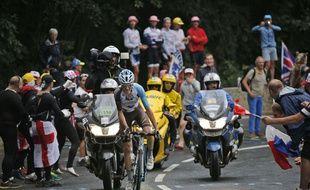 Romain Bardet, bien parti pour finir sur le podium du Tour 2016.