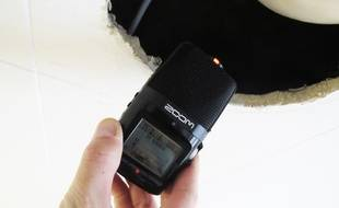 Illustration d'un micro dictaphone.
