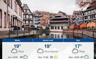 Météo Strasbourg: Prévisions du mercredi 15 septembre 2021