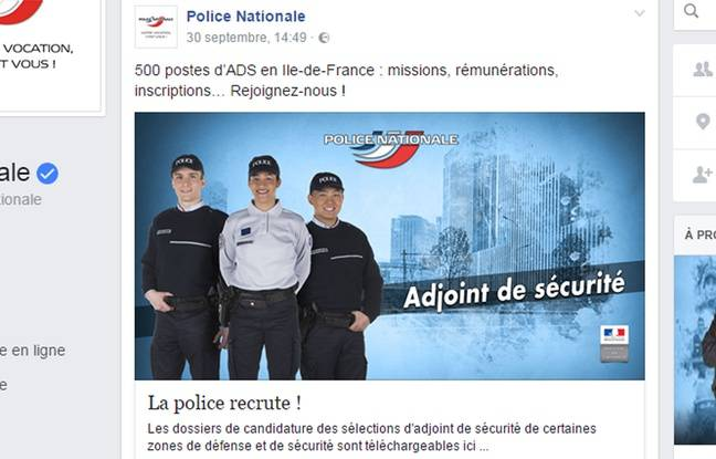 La campagne de recrutement lancée par la police nationale sur Facebook a été trollée.