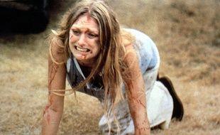 Marilyn Burns dans Massacre à la tronçonneuse en 1974