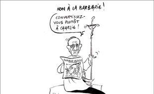 Le dessinateur nordiste Jean-Michel Delambre rend hommage à Charlie Hebdo.