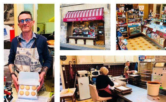 Didier et ses collègues fabriquent des centaines de macarons de Saint-Emilion tous les jours.