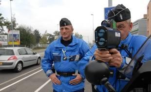 Un automobiliste a été contrôlé par les gendarmes à 209 km/h sur une route départementale en Alsace, ce week-end. (Illustration)