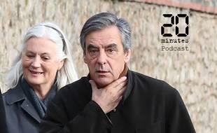 François et Penelope Fillon, à Sablé sur Sarthe le 15 février 2020