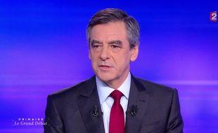 François Fillon, lors du dernier débat de la primaire à droite.