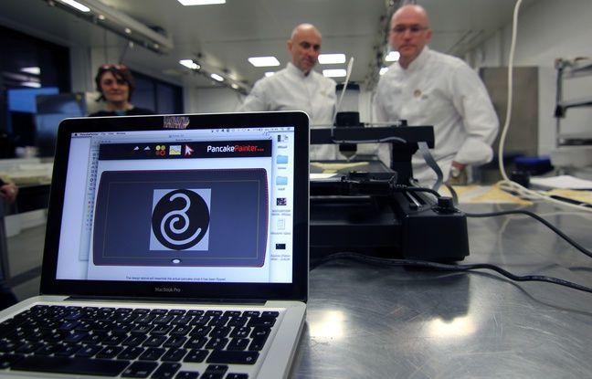 Le centre culinaire contemporain de Rennes a acheté la Pancakepainter, une imprimante 3D alimentaire permettant de faire des crêpes.