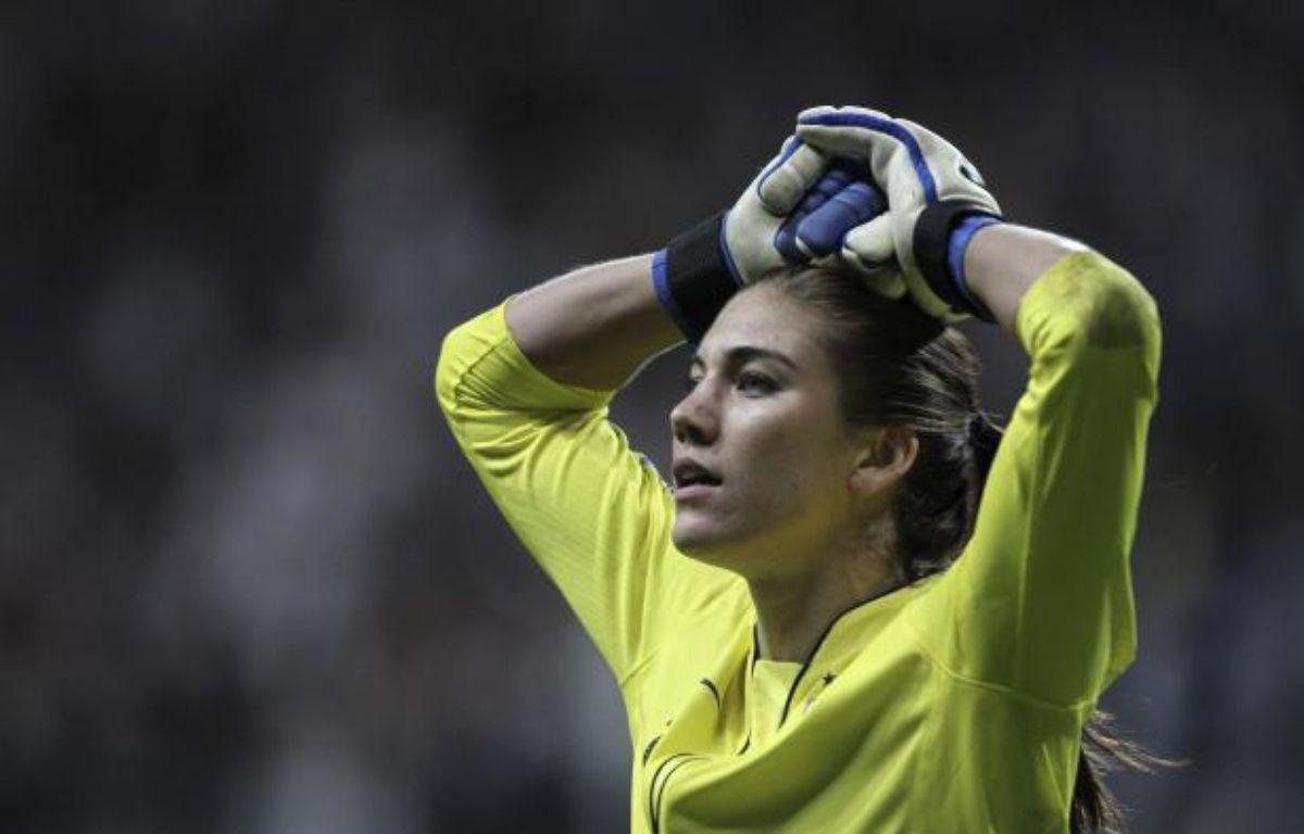La gardienne des Etats-Unis Hope Solo, lors de la finale de la Coupe du monde, le 17 juillet 2011 à Frankfort (Allemagne). – A.Domanski/REUTERS