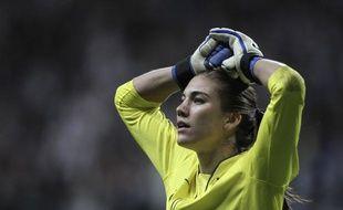 La gardienne des Etats-Unis Hope Solo, lors de la finale de la Coupe du monde, le 17 juillet 2011 à Frankfort (Allemagne).
