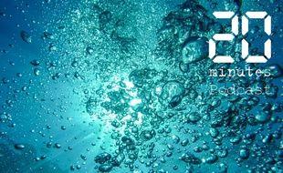 Illustration de bulles d'air sous l'eau