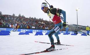 Winner Martin Fourcade of France competes during  the men's 12.5 km pursuit competition at the Biathlon World Cup in Oberhof, Germany, Saturday, Jan. 6, 2018.