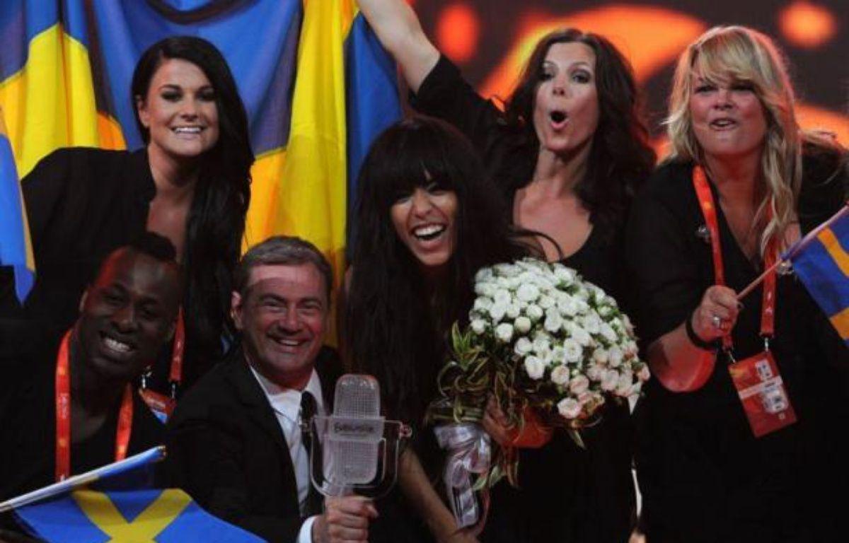 """""""Elle a balayé"""", """"massacré"""" les autres concurrents, a commenté la presse suédoise à l'annonce de la victoire de Loreen samedi soir au concours de l'Eurovision de Bakou avec sa chanson """"Euphoria"""" – Vyacheslav Oseledko afp.com"""