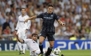 Samir Nasri face au Real Madrid, le 21 septembre 2012