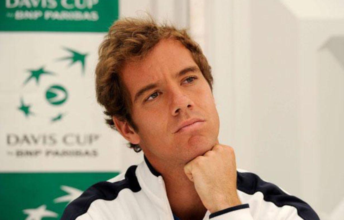 Le tennisman français Richard Gasquet, lors de la présentation des équipes de Coupe Davis, le 7 juillet 2011 à Stuttgart. – D.Kopatsch/Sipa