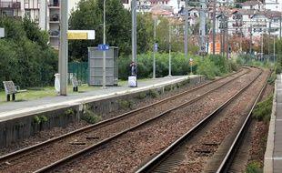 Les quais de la gare de Saint Jean de Luz le 18 octobre 2019.