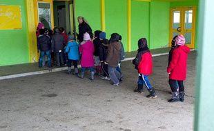 Le 15 février 2013, à Mulhouse, les élèves du groupe scolaire de Brossolette, qui a expérimenté la  semaine de quatre jours et demi.