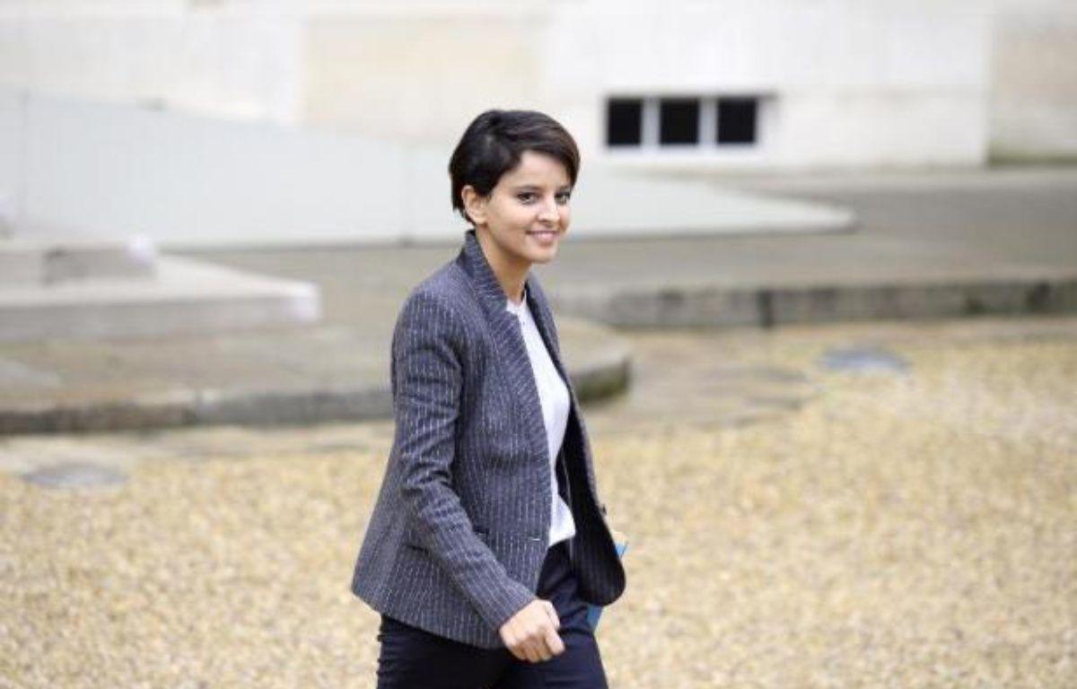 La ministre de l'Education nationale Najat Vallaud-Belkacem, le 26 novembre 2014 à la sortie de l'Elysée – Alain Jocard AFP