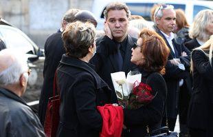 Dominique et Laurent Tapie à l'église Saint-Germain-des-Près, à Paris, le 6 octobre 2021.