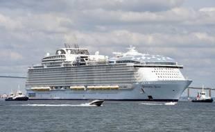 Première sortie en mer du Wonder of the seas le 20 août 2021 à Saint-Nazaire.