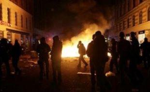 Nuit d'émeute à copenhague le 02 mars 07.