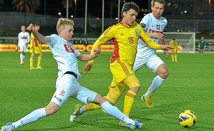 Furman (à gauche) lors d'un Pologne-Roumanie amical, le 2 février 2013.