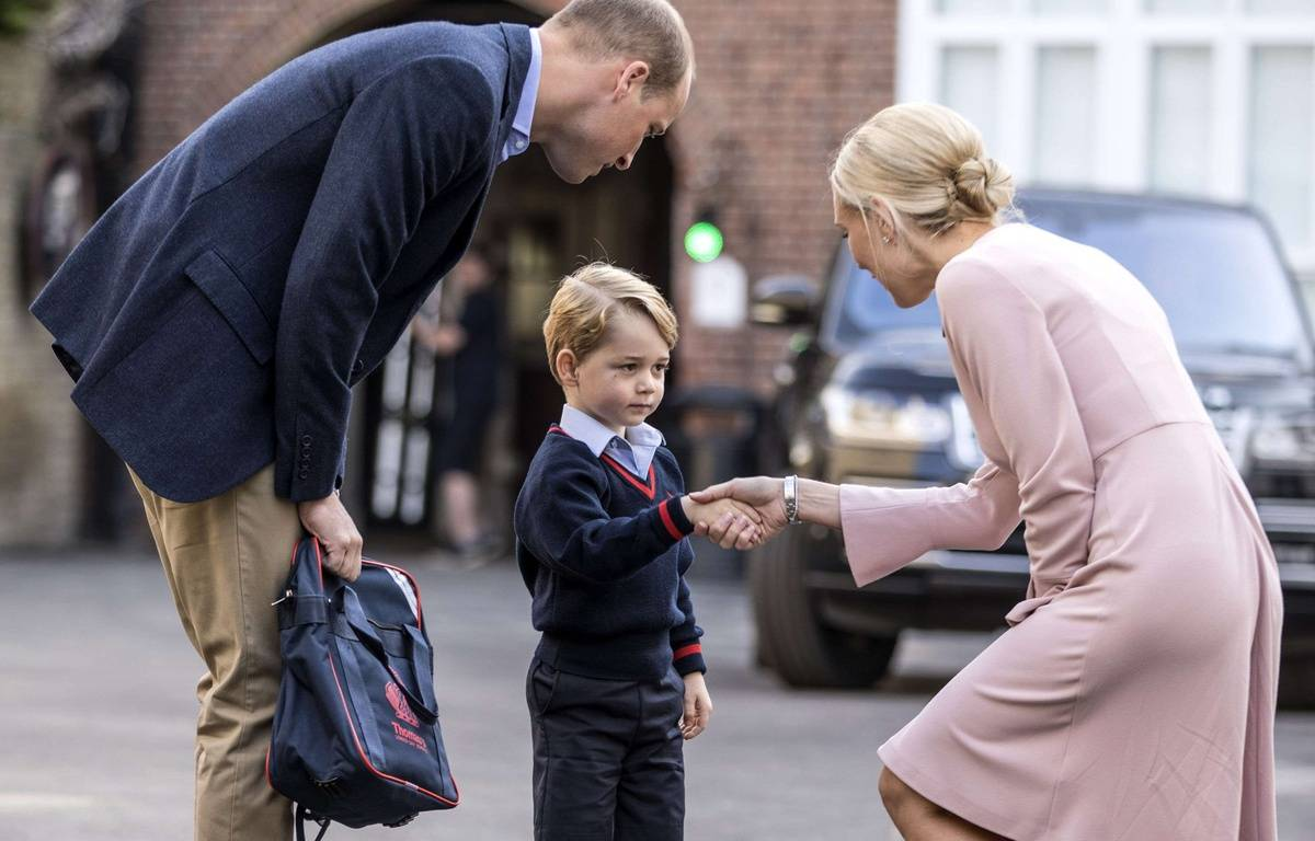 Le prince George a fait sa rentrée le 7 septembre 2017 – Richard Pohle/AP/SIPA