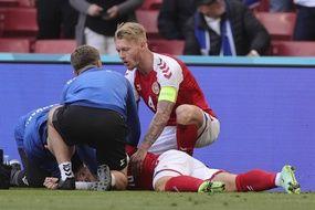 Le joueur danois Christian Eriksen, s'est écroulé après un malaise cardiaque samedi 12 juin, en plein match contre la Finlande à l'occasion de l'Euro 2021. Son état est désormais stable, rapporte la fédération danoise de football. (Illustration)