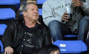 Rolland Courbis, lors d'un match à Montpellier, le 4 avril 2010