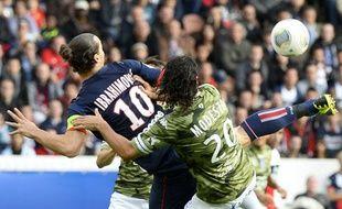 L'attaquant du PSGZlatan Ibrahimovic le 19 octobre 2013 contre Bastia au Parc des Princes.