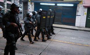 Illustration de policiers brésiliens.