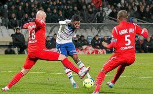Rencontre entre Lyon et Nancy (ligue 1) le 12 décembre 2012.