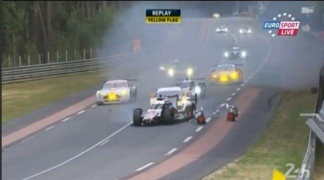 VIDEO. 24 Heures du Mans: Violente sortie de route pour Loïc Duval