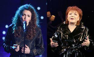 Dans la saison 10 de The Voice, Clara Polaire a repris Les Bleus, chanson écrite par Serge Gainsbourg et interprétée notamment par Régine (à droite, en 2004).